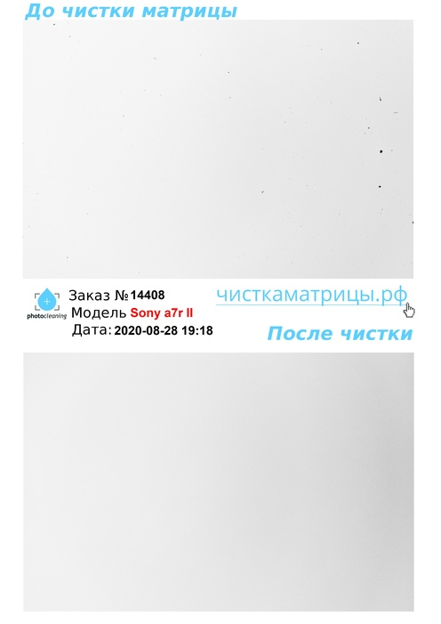 Чистка матрицы Sony a7r II