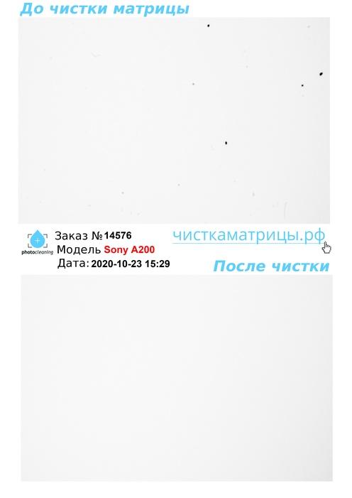 Чистка матрицы Sony A200