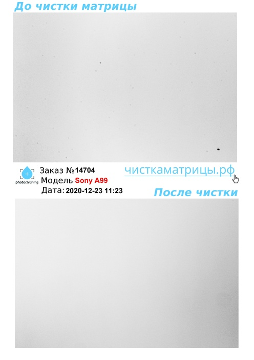 Чистка матрицы Sony A99