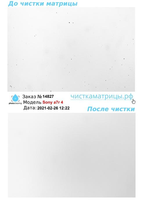 Чистка матрицы Sony a7r 4