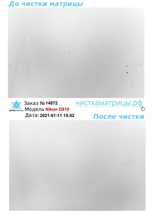 Чистка матрицы Nikon D810