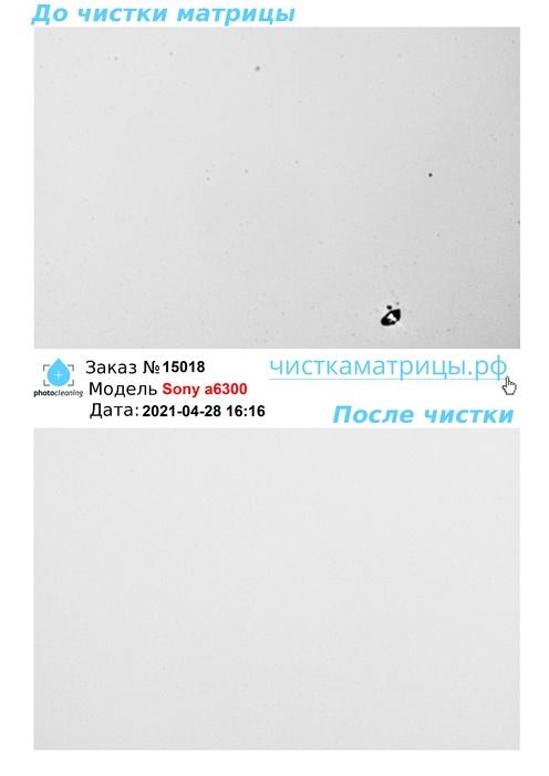 Чистка матрицы Sony a6300