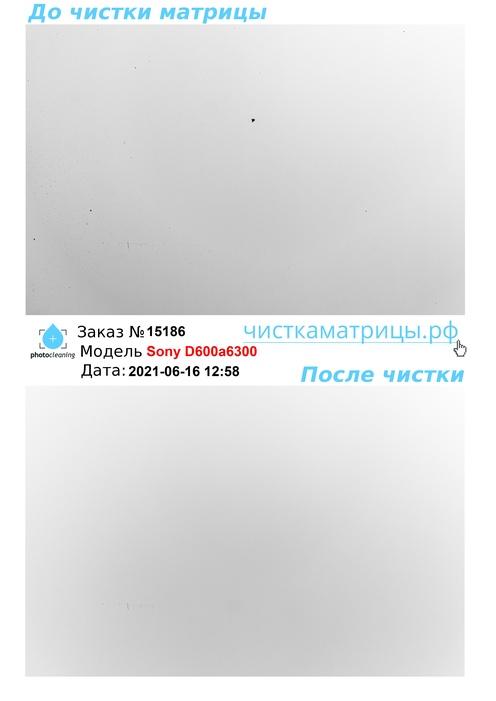 Чистка матрицы Sony D600a6300