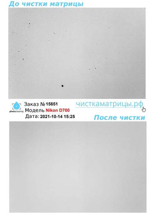 Чистка матрицы Nikon D700