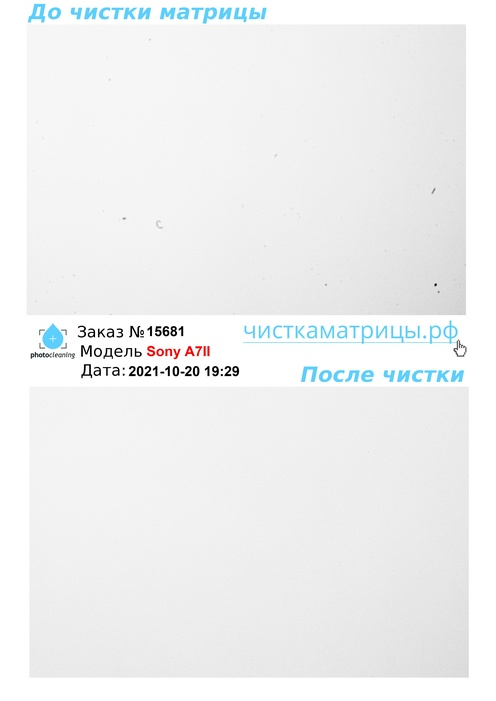 Чистка матрицы Sony A7II
